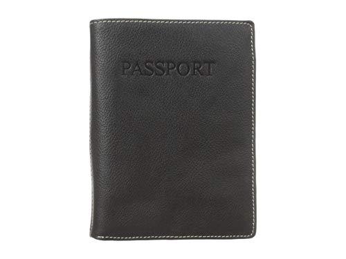 Perry Ellis Men's Passport Case, Black, One Size