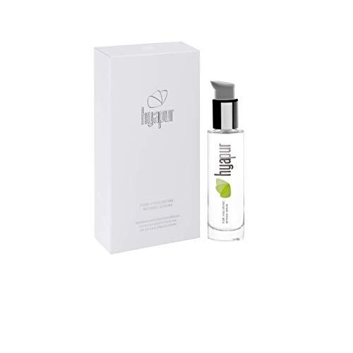 hyapur® - Hyaluronsäure Serum hochdosiert - Pures Hyaluron Serum mit Silber im 50ml Flakon - zur täglichen Anti-Aging-Pflege - Made in Germany