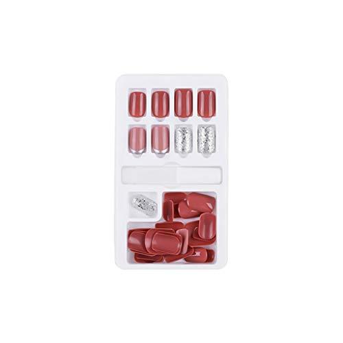 Cuteelf Fertige Nägel 30 Stück verpackt abnehmbaren und wiederverwendbaren Fertige Nagelpflaster 30Pcs Boxed Removable Wiederholte Verwendung von gefälschten Nagelpflaster