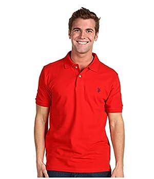 U.S Polo Assn Men s Classic Polo Shirt Engine Red L