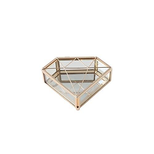 FCBF Caja de joyería de Metal pequeña Caja de joyería portátil del Collar de la Caja de la joyería del Anillo de la joyería con los Mejores Regalos for Las Mujeres (tamaño : 2.1 * 5.5 * 3.9in)