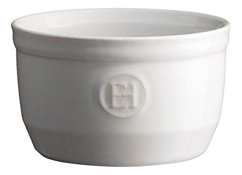 Emile Henry Eh111010 Le N°10 Ramequin Céramique Blanc Farine 10,5 X 10,5 X 6 cm