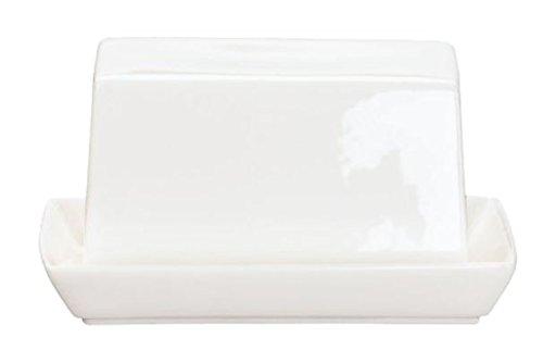 ASA Á Table Butterdose, Keramik, weiß glänzend, 11x8.8x10 cm