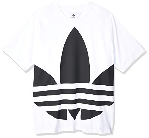 adidas Big Trefoil Boxy Tee, Maglietta Uomo, Bianco (White), XL