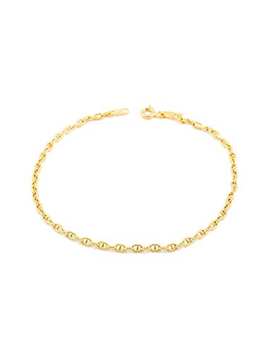 18ct geel goud anker armband
