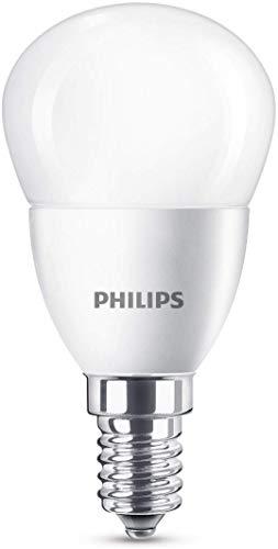 Philips 8718696475003 - Bombilla LED con casquillo E14, consumo 5.5W (equivalente a 40W), luz blanca cálida (2700K)