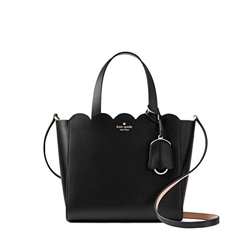 Kate Spade Women's Magnolia Street Mini Mina Leather Satchel Handbag, Black, 11'x8'x5'