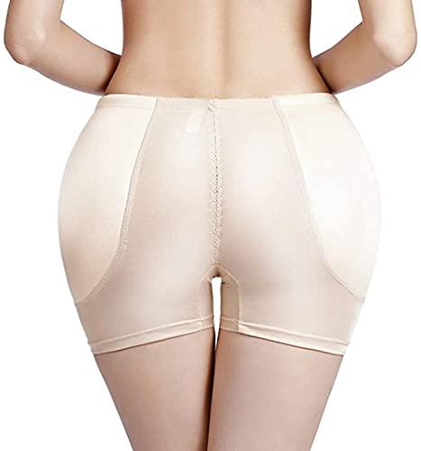 Mujer Braguitas Moldeadoras, Tamaño Grande Big Ass Pads Hip Enhancer Sexy Butt Lifter Women Dress Shapewear Acolchado Underwear Slim Waist Trainer Body Shaper Control Panties, Beige, XL