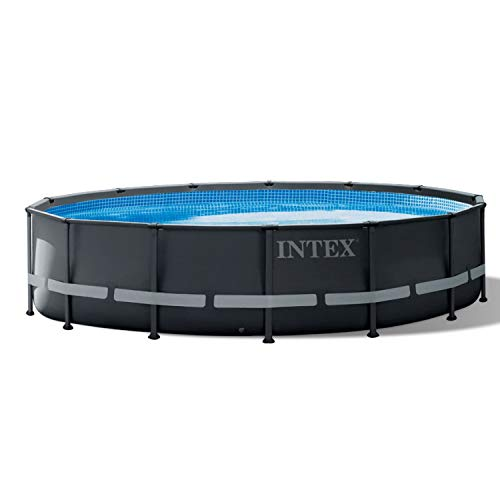Intex 26309ST 14 Foot x 42 Inch Ultra XTR Frame Round Above Ground Swimming Pool with Liner, Ladder, Filter Cartridge Pump, Ground Cloth, & Cover