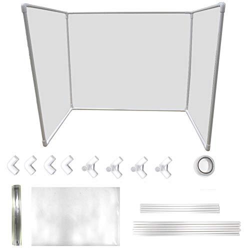 Binwe Sneeze Guard Shield Tosse Barriera Protettiva per Barriere per Ristorante, Negozio di Alimentari, 60x90cm