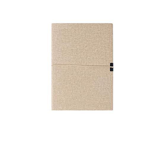 aedouqhr Bloc de Notas, Cuadernos, Diario, Cuaderno, Vintage, de Piel sintética, Encuadernado, con Papel Rayado, para Profesores, niñas, viajeros, Bloggers, Bloc de Notas (Color: Beige)