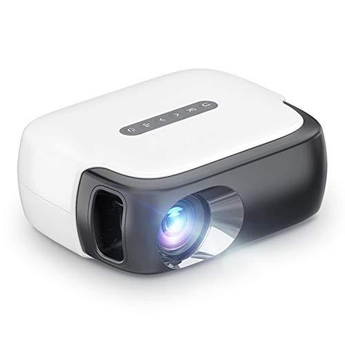 Proyector Portátil 2000Lumen Mini Proyector para Video 1080P Home Theater Smart Children Beamer Kids Gift Blackwhite