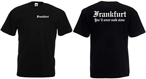 World of Shirt Frankfurt T-Shirt Ultras Herren S-XXXL Schwarz L
