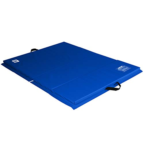 We Sell Mats 4 ft x 6 ft x 2 in Personal Fitness & Exercise Mat, Lightweight and Folds for Carrying, Blue, 4 ft x 6 ft - 2 Inch Thick, Model Number: ECO4x6-50M