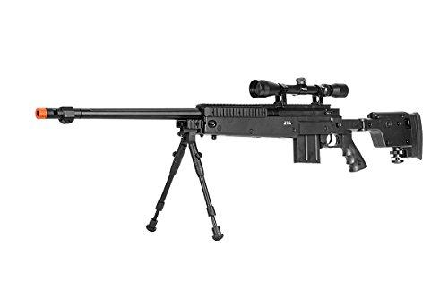 Well Full Metal MB4407 VSR-10 Customs Spring Sniper Rifle Airsoft Gun (Scope & Bipod Package)