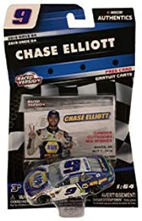 NASCAR Authentics Chase Elliott #9 Diecast Car 1/64 Scale - 2019 Wave 4 - with Free Card - Collectible