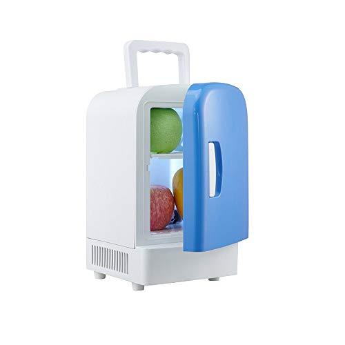 Frigo RéFrigéRateur Congelateur Glaciere Réfrigérateur chaud et froid à double usage 4L voiture petit réfrigérateur multi-usages mini voiture portable (Color : Blue)