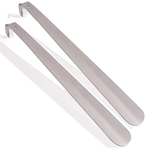 Calzador, Calzador de Acero Inoxidable, Calzador de Acero Inoxidable Sin Costura Para Hombres y Mujeres Con Asas de Metal (Hombres, Mujeres, Niños y Ancianos) (2 Piezas, 420 mm)