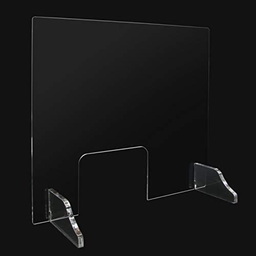 Mampara protectora para mostrador 100 x 75 cm metacrilato transparente. Mampara para tiendas, farmacias y comercios