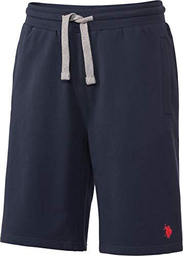 U.S. Polo Assn. Herren Sweat-Bermudas, Bequeme Jogginghose für Männer, ausgezeichnete Passform, Kurze Freizeithose aus Baumwolle, Gr. M - XXXL