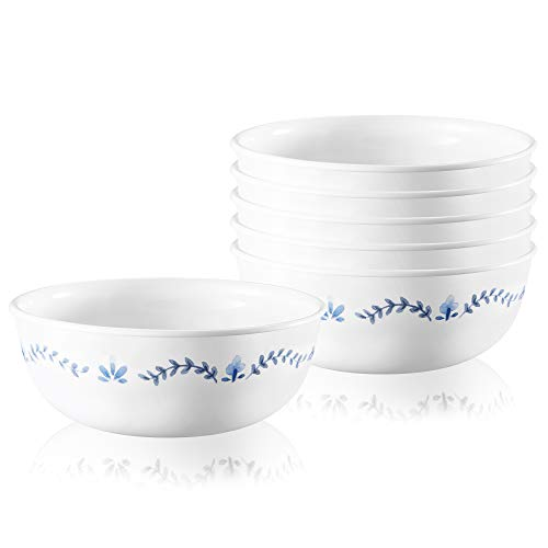 Corelle Chip Resistant Soup and Cereal Bowls, 6-Piece, Portofino