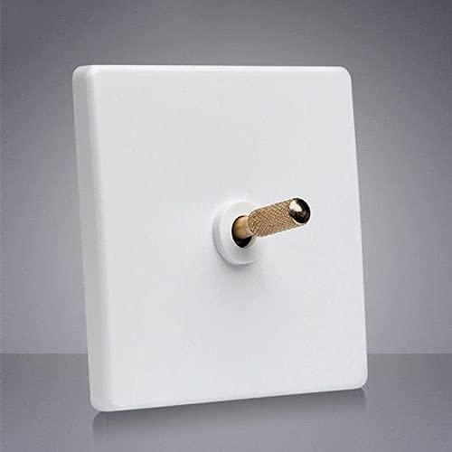 PJDOOJAE Interruptor de balancín oculto / 86 Tipo 1-4gang Interruptor de pared cuadrado Interruptor de palanca blanca cuadrada 86 Tipo Palanca Interruptor de pared de pared Interruptor de la luz de la