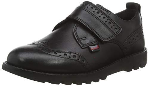 Kickers Kymbo, Zapatos de Cordones Brogue para Niños, Negro (Black BLK), 26 EU