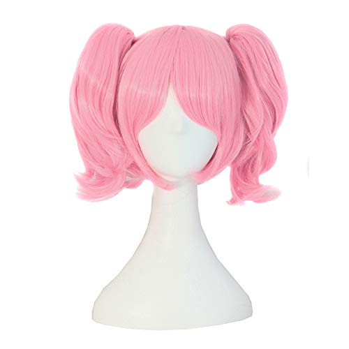 MapofBeauty Lolita Sweet and Lovely Straight Anime Cosplay Wig (Pink)