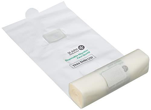 Laerdel - Rollo de 50 protectores faciales desechables para maniquí