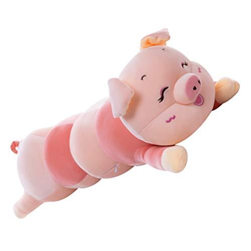 jojofuny Juguetes de Peluche de Cerdo Animal de Peluche Suave Almohada de Cerdo Abrazable de Peluche de Juguete de Cerdo para Niños Pequeños. 55Cm ( Rosa )