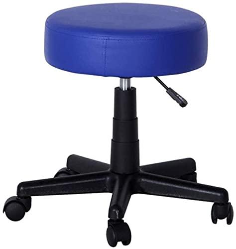 JYHQ Taburete de bar hidráulico con pedal alto, para salón, belleza, tatuaje, spa, silla giratoria de 360 ° (3 colores, se puede pedir a granel) (color morado, azul)