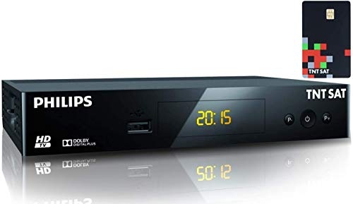 TNTSAT Decodeur TNT Satellite Recepteur Dsr 3231t + TNTSAT Carte - HD Astra (19,2°)   USB   HDMI   MPEG4   Full HD   1080P