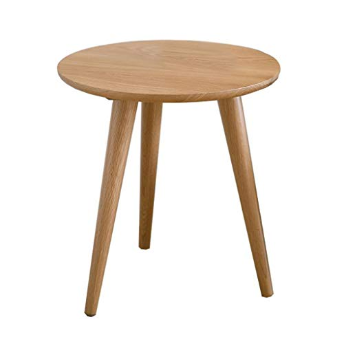 FSAQ Side Table Coffee Table, All Solid Wood Corner Cabinet Living Room Sofa Side Table Tea Table Bedroom Small Round Table Tablet Holder End Table (Color : Wood, Size : 50 * 50 * 50cm)