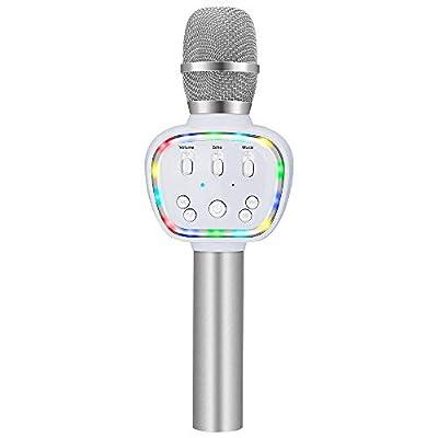 BONAOK Wireless Bluetooth Karaoke Microphone Q9