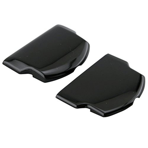 2 x Battery Back Door Cover Case for PSP 2000 2001 3000 3001 Playstation Portable Repair Parts Replacement Black