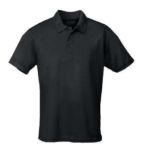Just Cool - Performance - Performance Polo Shirt, atmungsaktiv, Shirt, atmungsaktiv, XXL,Schwarz