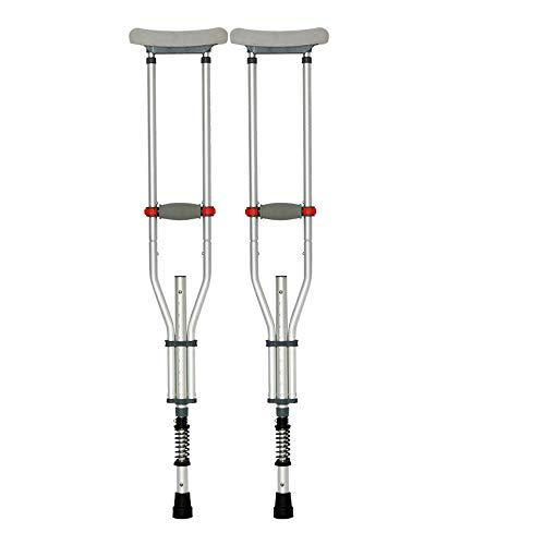 crutch Stoßdämpfende Achselkrücken, Gehhilfen für ältere Menschen, Gehhilfen, Gehhilfe, Aluminiumlegierung mit Einer Umdrehung, rutschfestes Falten