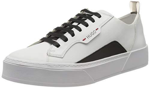 HUGO Herren Volcano_Tenn_mx Sneaker, Weiß (White 100), 44 EU