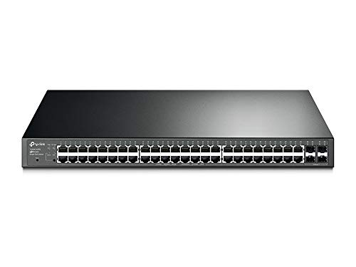 Price comparison product image TP-Link 48 port gigabit PoE switch / 48 PoE+ Port @384W,  w / 4 SFP Slots / Smart Managed / Limited Lifetime Protection / Support L2 / L3 / L4 QoS,  IGMP and LAG / IPv6 and Static Routing (T1600G-52PS)