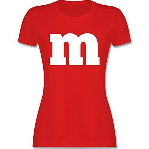 Karneval & Fasching - Gruppen-Kostüm m Aufdruck - S - Rot - t-Shirt Kinder schokobons - L191 - Tailliertes Tshirt für Damen und Frauen T-Shirt