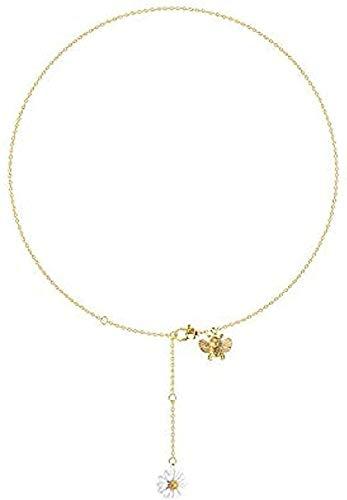 NC110 Collar Cadena de clavícula Colgante Femenino Collar Colgante Regalo para Mujeres Hombres niñas niños