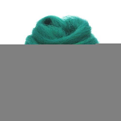 Qitao Wollfilz Farben 5g / 10g / 20g / 50g / 100g Filzwolle-Filz Stoff Filz Craft Spielzeug Filzwolle Handgemachte Filzen Craft (Color : 96, Size : 100g)