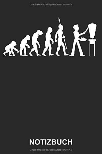 Notizbuch: Döner Kebab Gyros Grill Fleisch Grillen Imbiss Dönerspieß Fleischspieß Fast Food Evolution | Lustiges Niedliches Tagebuch, Notizheft, ... mit Linien | 120 Seiten liniert | Softcover