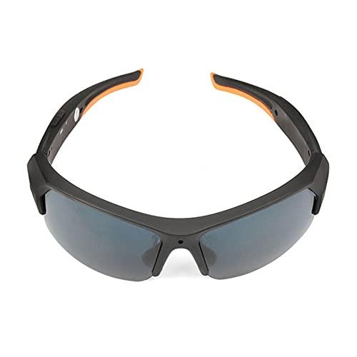 Kjy123 Gafas de Sol de cámara Deportiva Bluetooth con Auriculares HD 1080P Mini videocámara Inteligente Gafas Reproductor de música Incorporado 32 g de Memoria (Color : Negro)