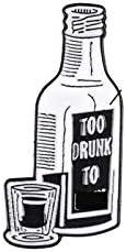 Wine Bottle Pin Punk Brooches Coffee Mug Cup Badges Lapel pin Enamel Brooch Denim Gifts for Punk Rock Music Fan Friend - 2