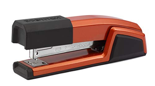 Red 3 in 1 Stapler with Integrated Remover and Staple Storage
