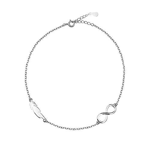 SOFIA MILANI - Damen Armband 925 Silber - Unendlich-Zeichen & Flügel Feder - 30172