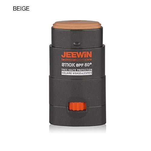 JEEWIN palillo de Protección Solar SPF 50 Rostro y Labios Beige BEIGE 9 g