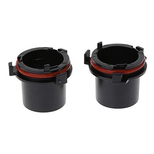 User 2 soportes para faros delanteros de coche H7 para adaptador de bombilla de xenón