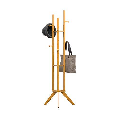 Porte-manteau simple chambre à coucher en bois massif support de plancher support de stockage rack à la maison porte-vêtements en bois massif Casiers ( Color : Brown , Size : 45*45*167cm )